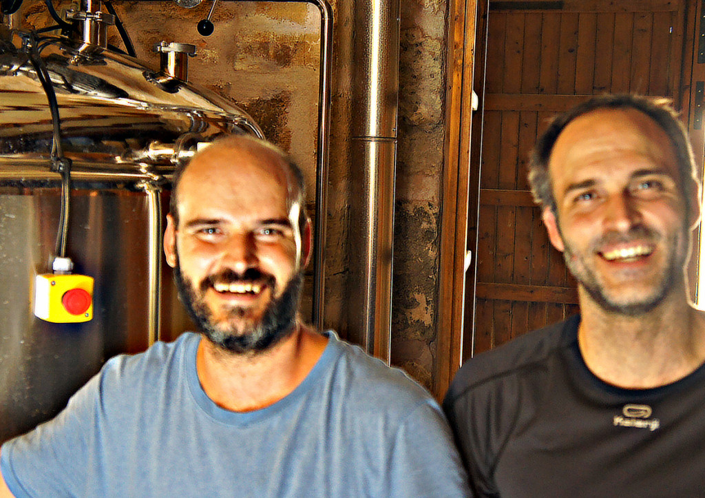 Miquel and Felipe Amorós of Beer Lovers brewery, Alcuida, Majorca