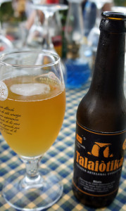 A wheat beer from the Talaiòtika brewery in Porreres, a small town in the middle of Majorca