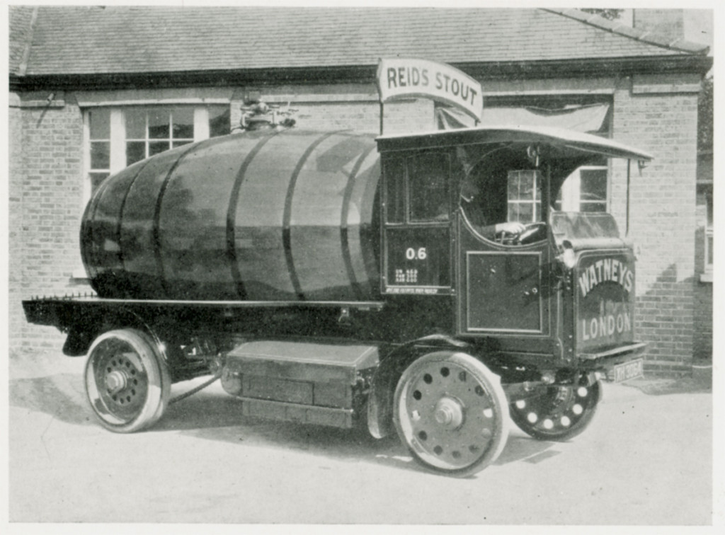 An electric-powered beer tanker used by Watney's in 1929