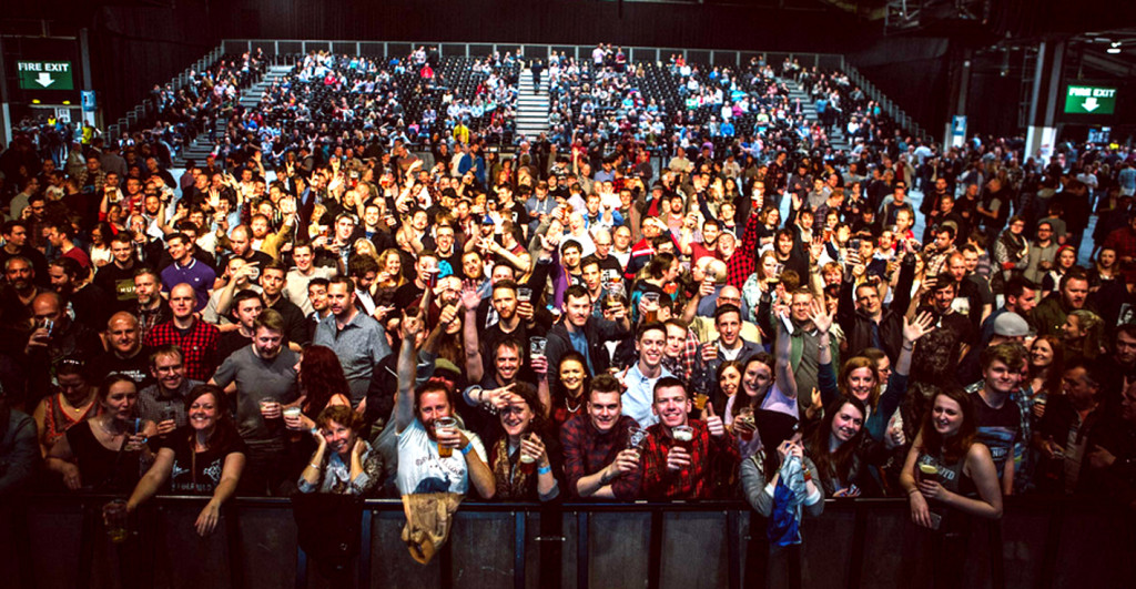 Some of the 6.000 Equity for Punks shareholders at the 2015 BrewDog AGM