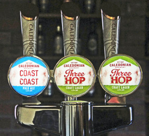Three Caledonian keg taps