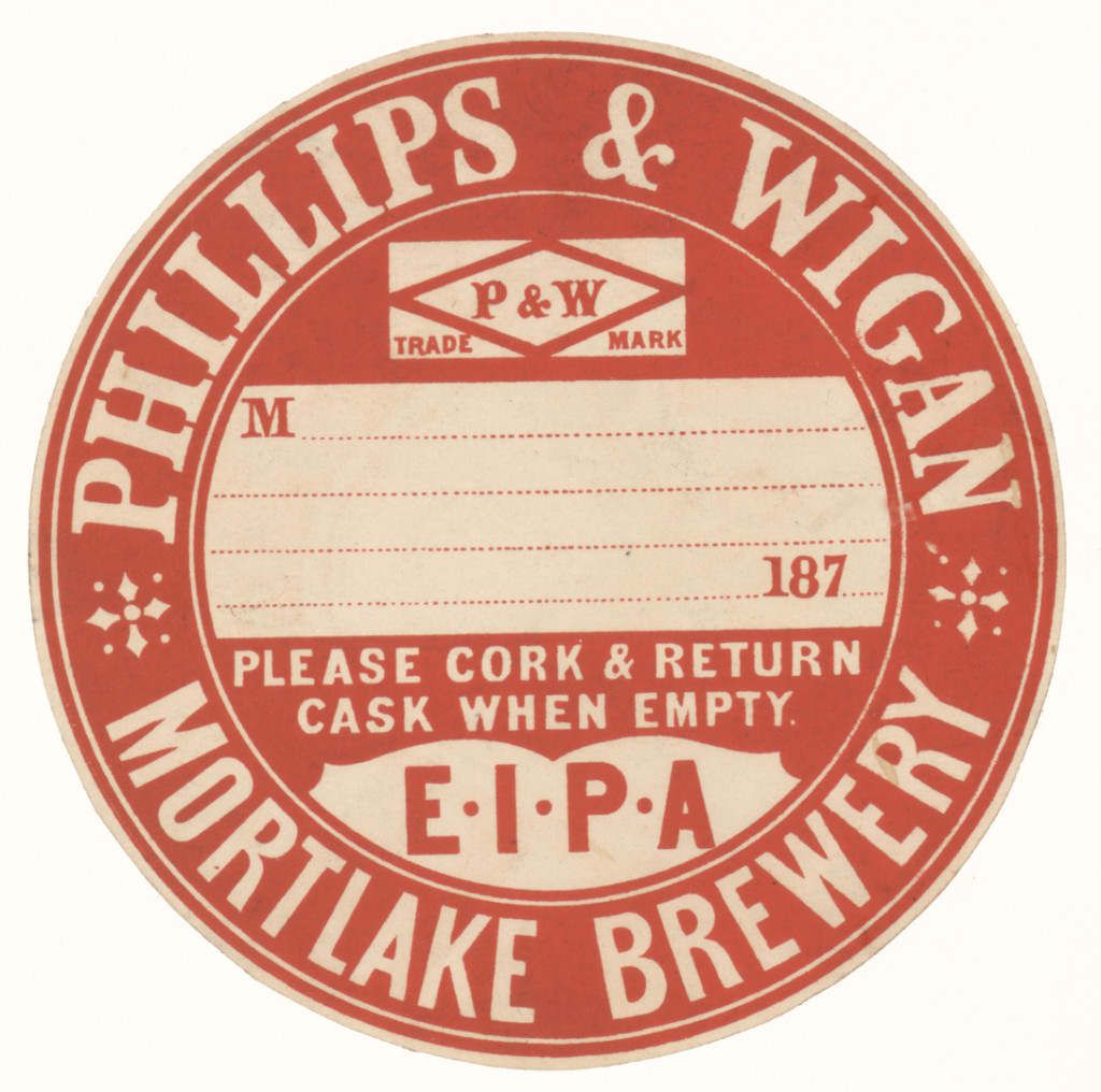 Phillips & Wigan cask label