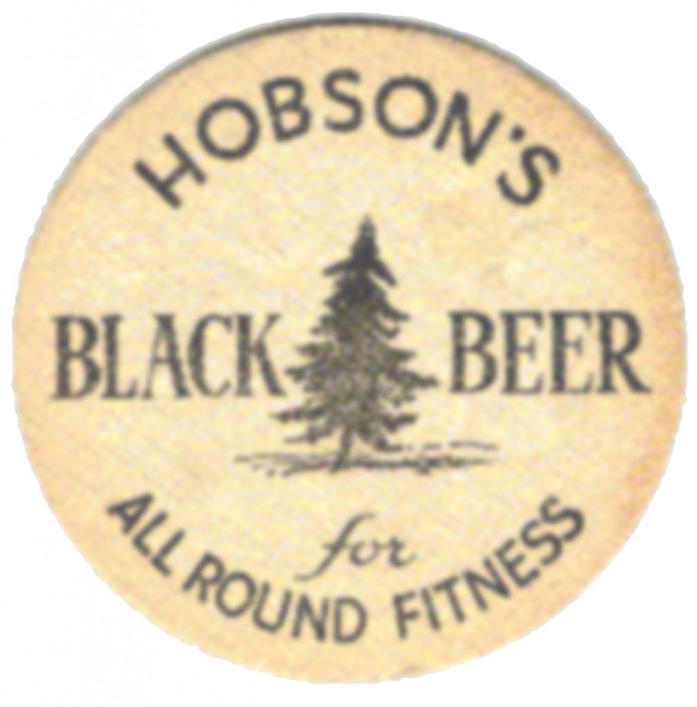 Hobson's Black Beer beermat 2