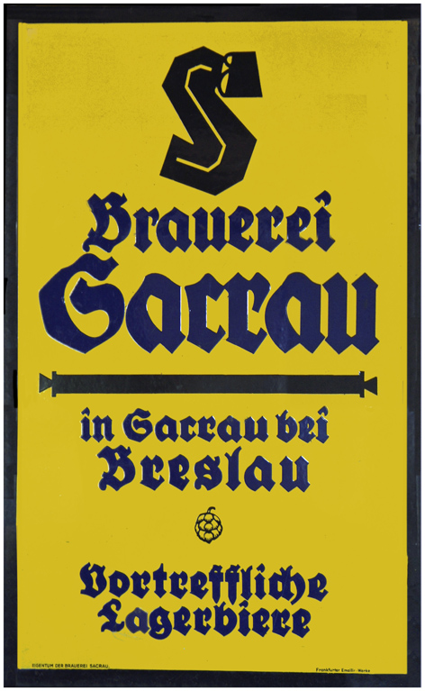 The Sacrau brewery opened in Zakrzów, a suburb of Breslau – modern Wrocław – in what was then Germany and is now Poland in 1885. It finally closed in 1995
