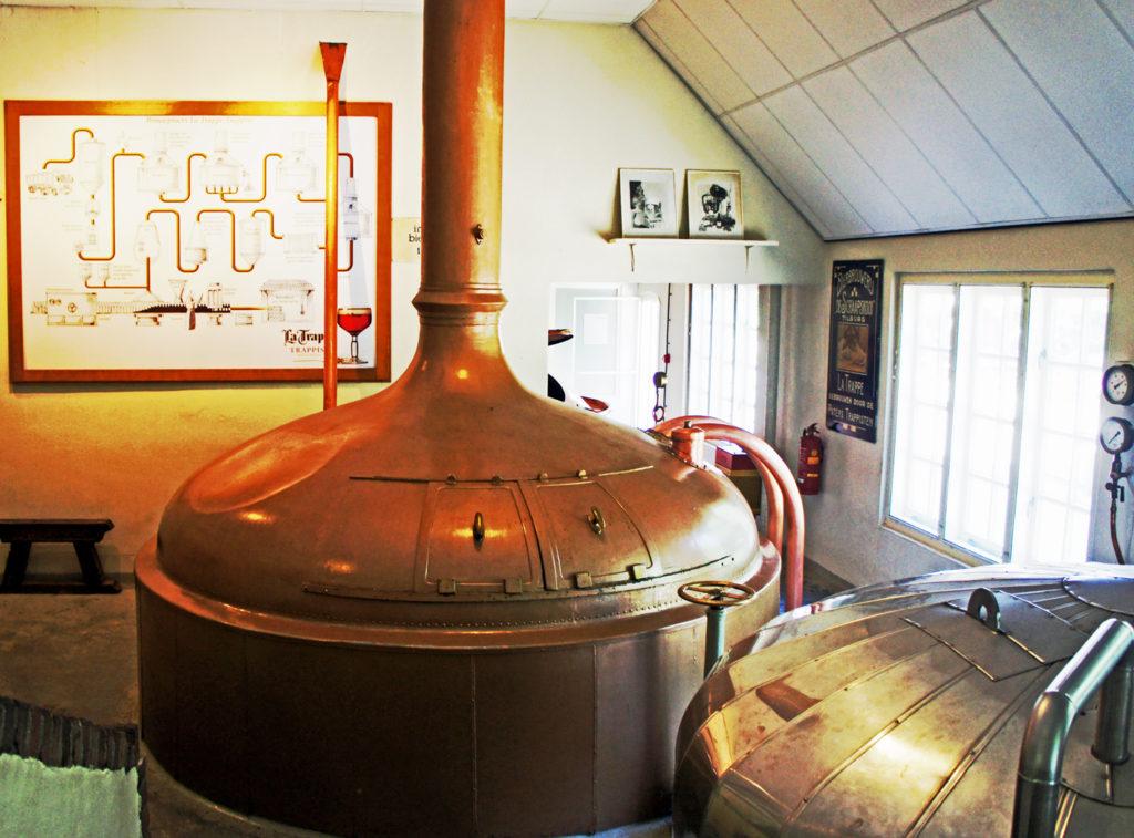 More original copper equipment at the La Trappe brewery