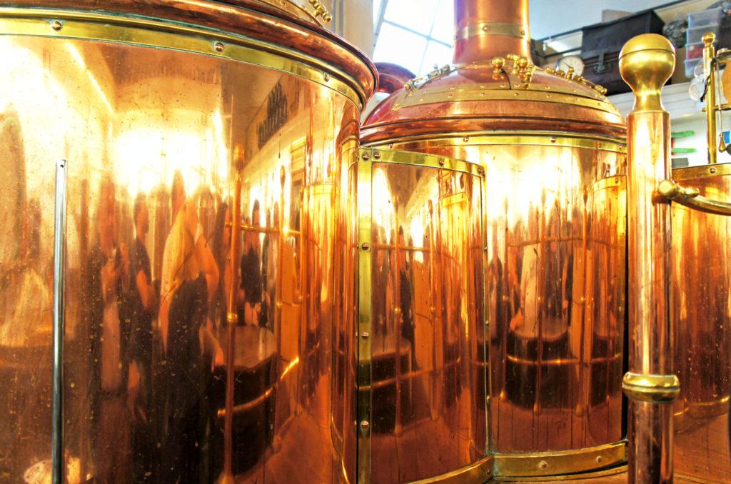 Beautiful copper vessels at 'T Kolleke brewery, Den Bosch