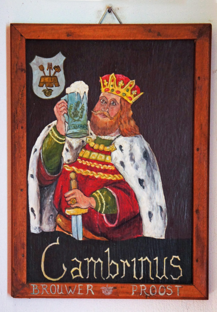 Portrait of Gambrinus at the van de Oirsprong brewery