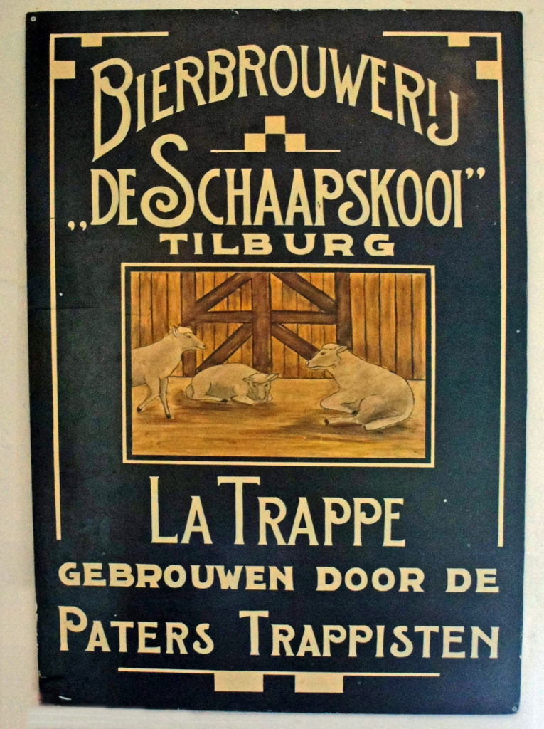 Original ad for the 'Schaapskooi', or 'Sheep Cote' brewery, La Trappe's first name