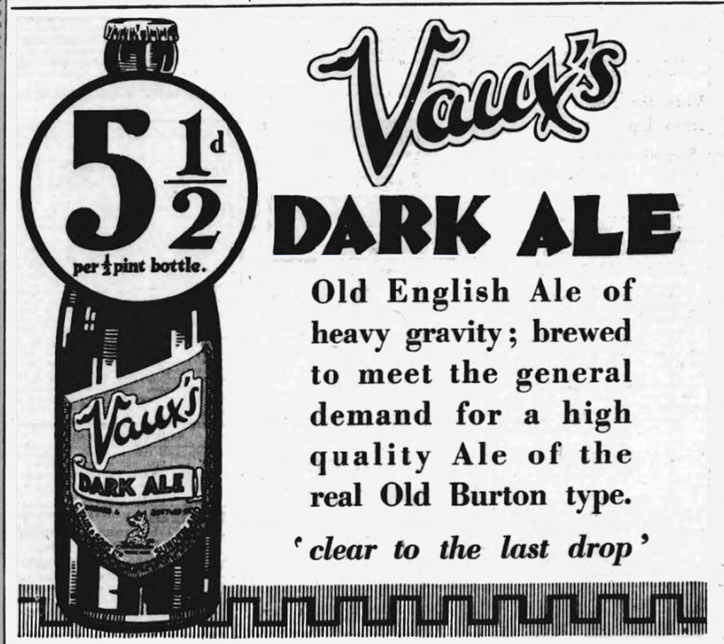 An advert for Dark Ale from Sunderland in 1929